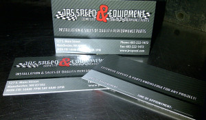 JrSpeed Shop Business Cards